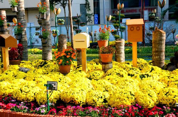 Một đóa hoa khổng lồ được làm từ