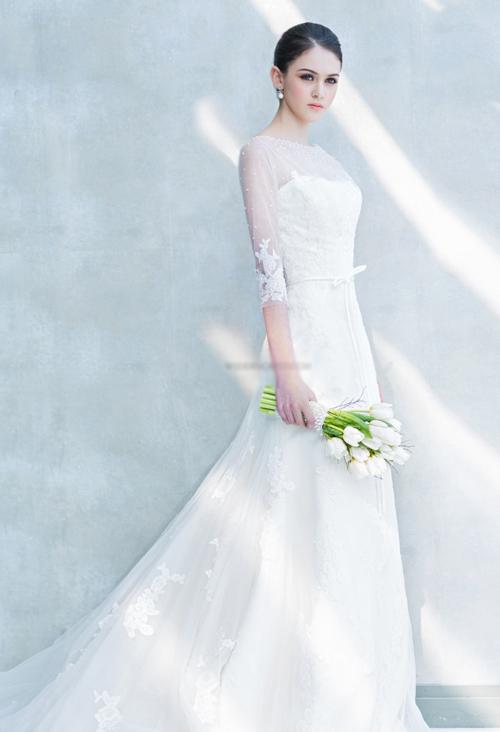 váy cưới xinh xắn cho cô dâu mới