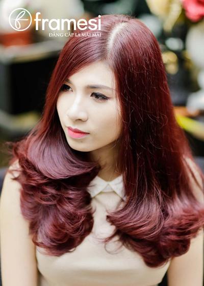 Nhuộm tóc đỏ tự nhiên như sao thế giới - Làm đẹp