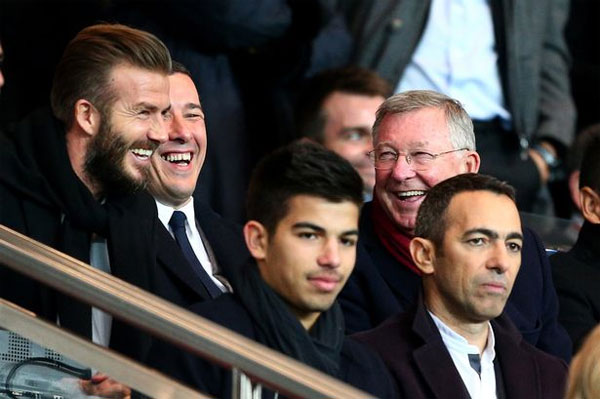 Becks và Sir Alex Ferguson
