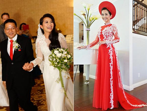 Váy cưới thanh lịch của sao Việt và Hoa ngữ khi tái hôn