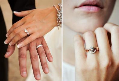 Cách đeo nhẫn cưới và nhẫn đính hôn cùng lúc