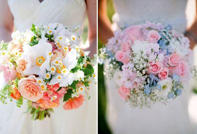 Xu hướng màu sắc hoa cưới hợp mùa xuân hè