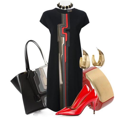 Trên tổng thể trang phục, sắc đỏ với khả năng kích thích thị giác cao luôn được chọn làm điểm nhấn nổi bật.