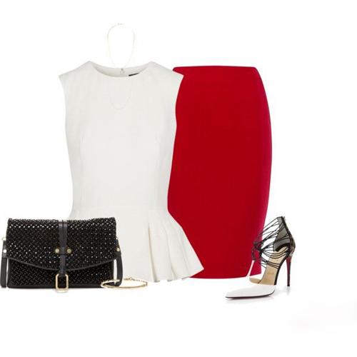 Việc kết hợp 3 gam màu trắng, đỏ, đen được nhiều bạn gái sành thời trang áp dụng bởi công thức vô cùng đơn giản nhưng luôn mang đến hiệu quả cao.
