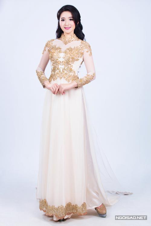 Chọn áo dài cưới giấu dáng tròn khéo như Xuân Mai