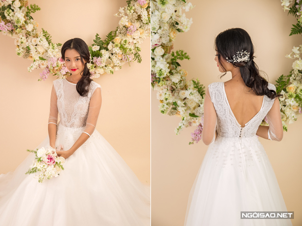Váy cưới Việt thanh khiết như đóa hoa xuân