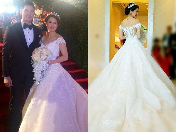 Chọn váy cưới lưng trái tim độc đáo như mỹ nhân Phlippines