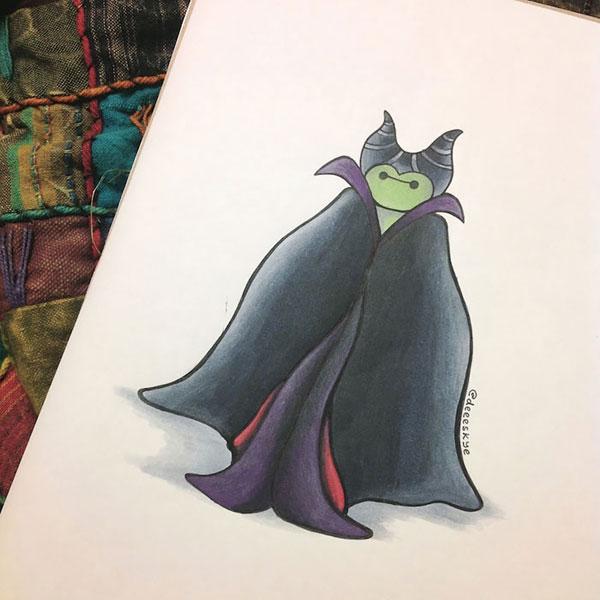 Tiên hắc ám Maleficent.