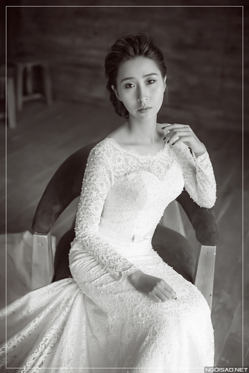 Váy cưới mỏng nhẹ cho cô dâu Việt mùa hè