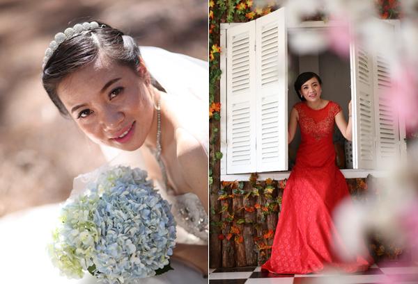 Tư vấn váy cưới, trang điểm cho cô dâu da ngăm, bóng dầu