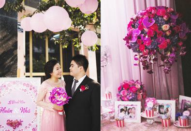 Lễ đính hôn ở Sài Gòn ngọt ngào với màu tím hồng
