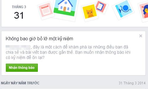 Thích thú với tính năng 'ngày này năm xưa' trên Facebook