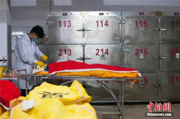 Liu has been working as an embalmer since he graduated from the Changsha Social Work College in Hunan province in 2013.