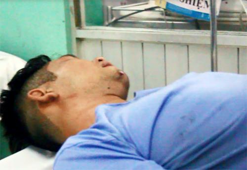 Anh Vũ đang được điều trị tại Bệnh viện đa khoa Hóc Môn. Ảnh: An Nhơn
