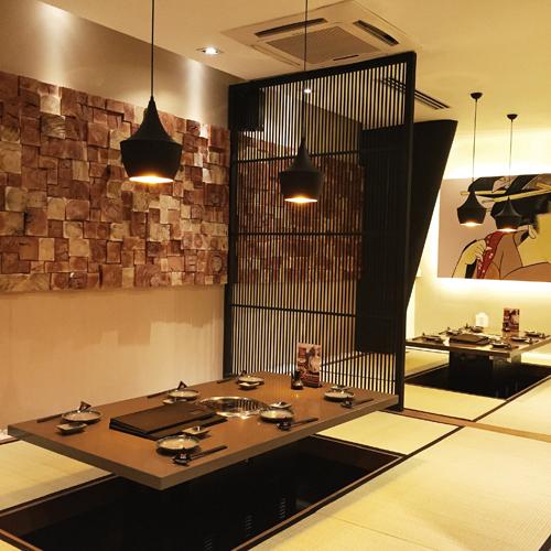 Nội thất được thiết kế tinh tế, lấy cảm hứng từ không gian truyền thống Nhật Bản.