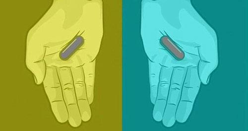 Tranh cãi về viên thuốc xanh - đỏ  và xám - xám