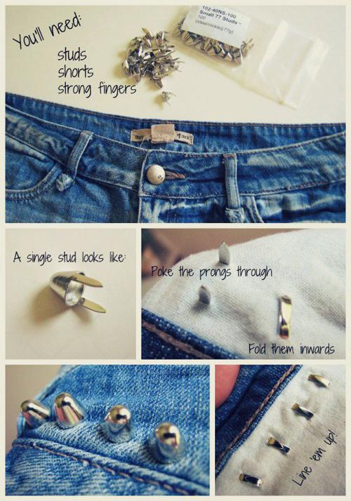 10 cách trang trí cho chiếc short jean cũ