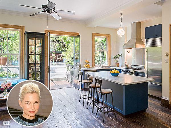 """Căn bếp xinh nhìn ra khu vườn mát mẻ của người đẹp phim """"Lạc vào xứ  Oz quyền năng và vĩ đại"""" Michelle Williams"""