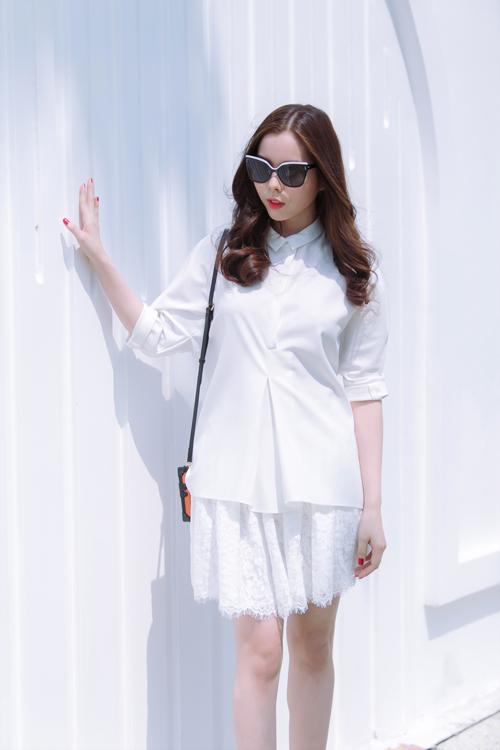 Mặc đẹp ngày hè với tông màu trắng xanh thanh nhã 10