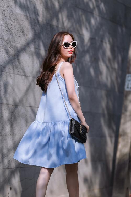 Mặc đẹp ngày hè với tông màu trắng xanh thanh nhã 8