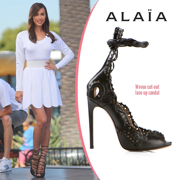 Azzedine-Alaia-Woven-Cut-Out-Lace-Up-San