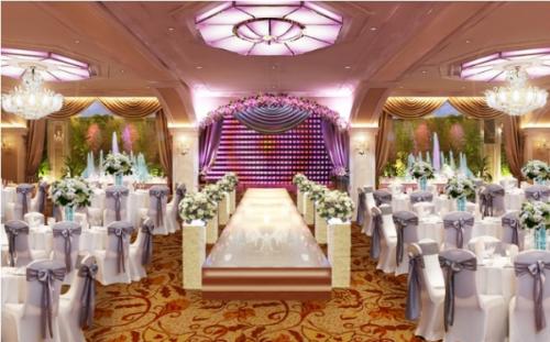 Sảnh Diamond đem đến một không gian tiệc cưới sang trọng, lộng lẫy.