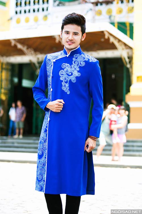 Anh Tài gợi ý áo dài cưới nam tính cho chú rể