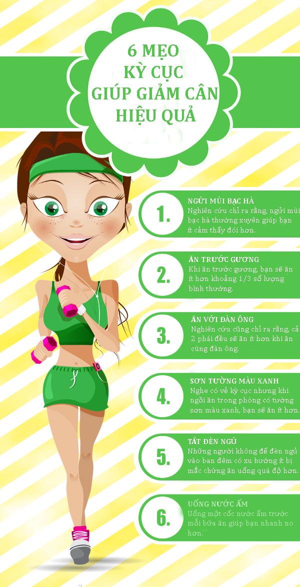 Mách bạn 6 mẹo kỳ cục mà lại giúp giảm cân không ngờ