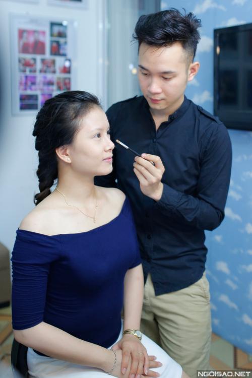 Make-up màu cam dịu dàng cho cô dâu Đà Nẵng