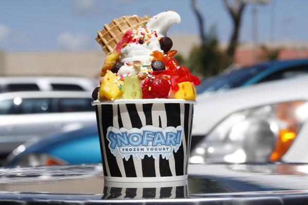 Dọc các thành phố biển của Mỹ, kem sữa chua đông lạnh trang trí nhiều vị dễ thương được bán khá phổ biến.
