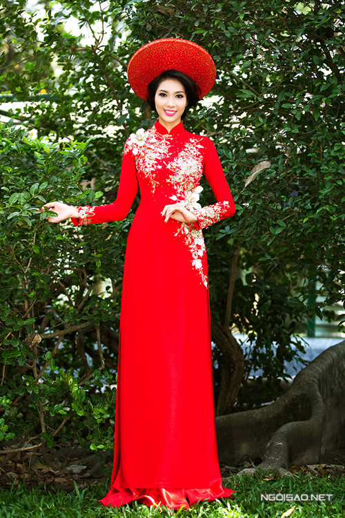 Chọn 4 màu sắc áo dài cưới cho cô dâu Việt
