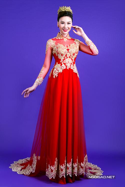 Tư vấn chọn áo dài cưới màu đỏ lộng lẫy