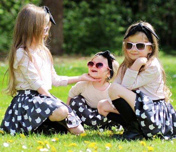 3 chị em fashionista nhí 'đốn tim' người yêu thời trang