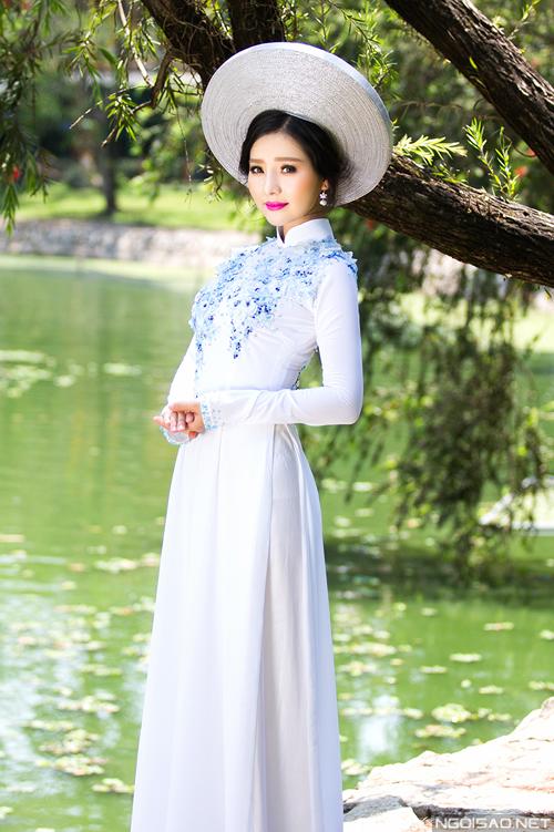 Khánh Hiền gợi ý áo dài cưới truyền thống kiêu sa