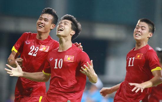 Công Phượng không ra sân một phút nào trong trận gặp Timor Leste hôm nay nhưng các đồng đội của anh đã làm rất tốt khâu ghi bàn.