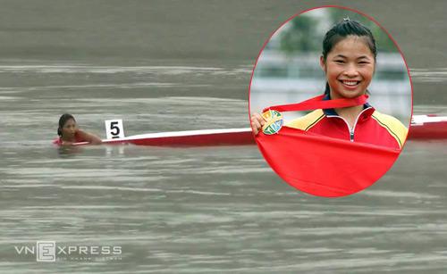 Trương Thị Phương, cô gái 16 tuổi giành HC vàng duy nhất cho canoeing cũng gặp sự cố tương tự