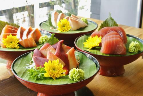 Các món ăn từ than tre tại nhà hàng Mirai
