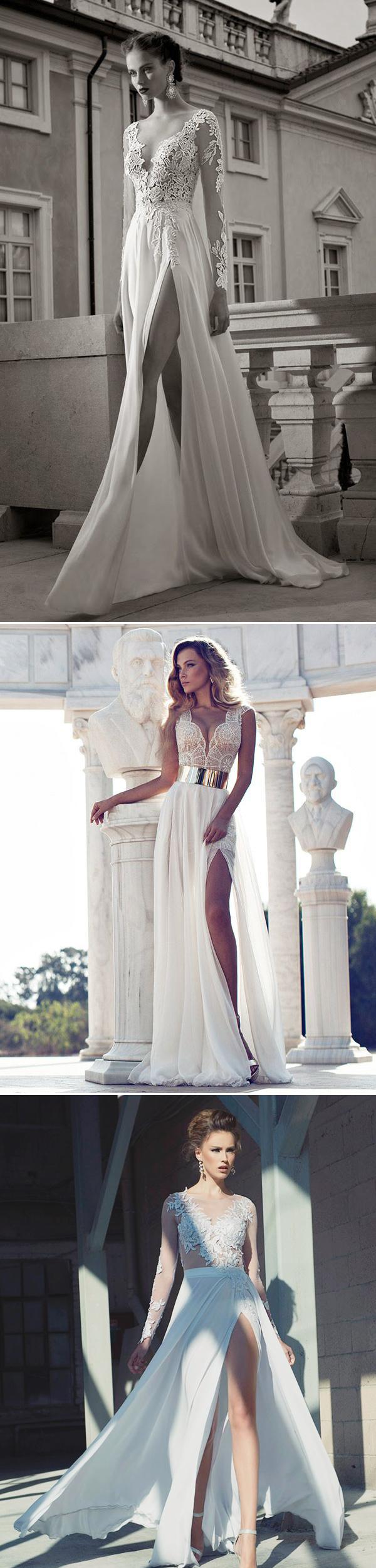 Cô dâu khoe chân nuột nà với váy xẻ cao ***