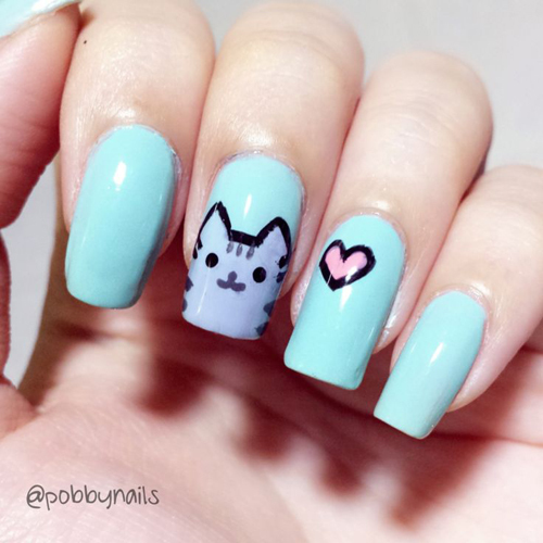 Những màu móng đẹp chỉ dành cho các cô nàng yêu mèo 5