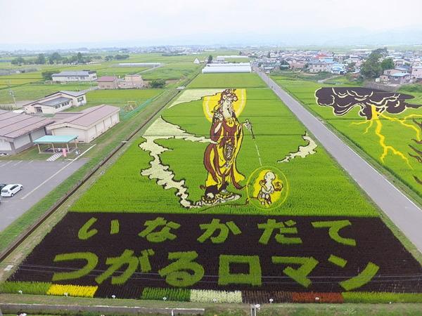 Cách đây hai mươi năm, làng Inakadate lâm vào cảnh khốn khó với nợ nần chồng chất, thu nhập từ nông nghiệp giảm sút và người dân rời bỏ làng. Năm 1981, chính quyền phát hiện di tích khảo cổ cánh đồng lúa hơn 2000 năm tuổi, đã tạo nên danh tiếng cho ngôi làng Inakadate, một trong những vùng trồng lúa lâu đời nhất miền bắc Nhật Bản.