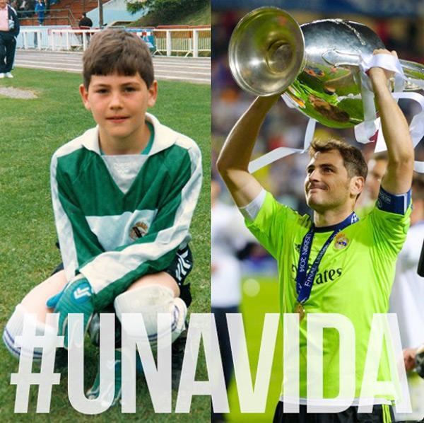 Casillas gắn bó với Real Madrid từ khi là cậu bé 9 tuổi, trải qua bao thăng trầm trong 1/4 thế kỷ cùng Real.