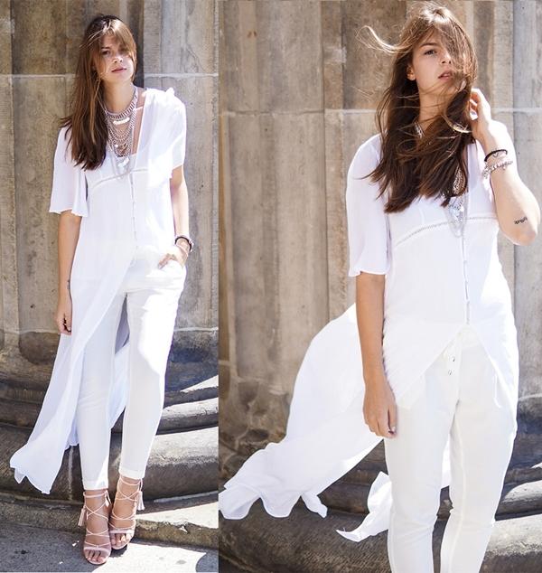 Fashionista hút hồn với sắc trắng ngày hè