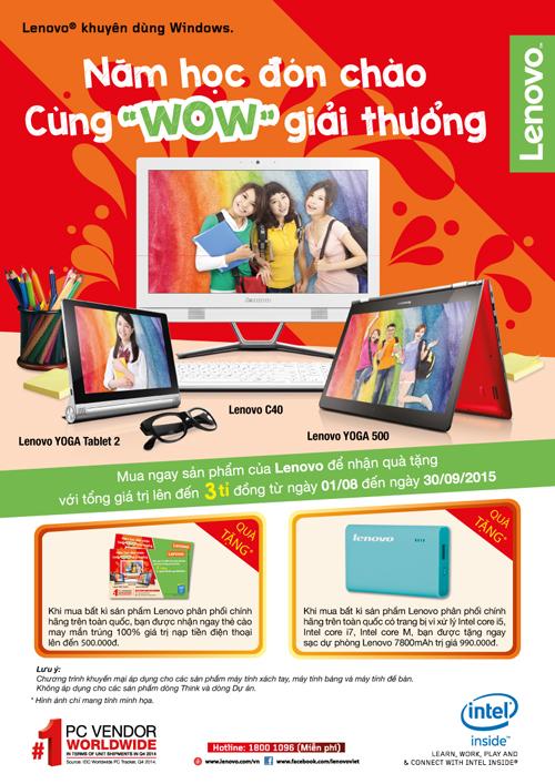 Những món quà công nghệ của Lenovo cho năm học mới
