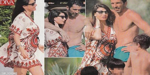 Bụng bầu của bạn gái Buffon bắt đầu lộ rõ trong kỳ nghỉ ở Miami cuối tháng 6.