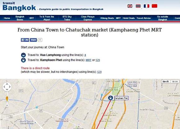 Phương tiện liên lạc và đi lại ở Bangkok