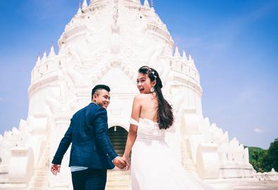 Cặp đôi Sài Gòn 'liều' chụp ảnh cưới ở Myanmar