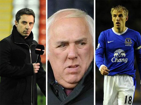 Ông Neville Neville chính là đại diện của hai con trai Gary và Phil Neville.