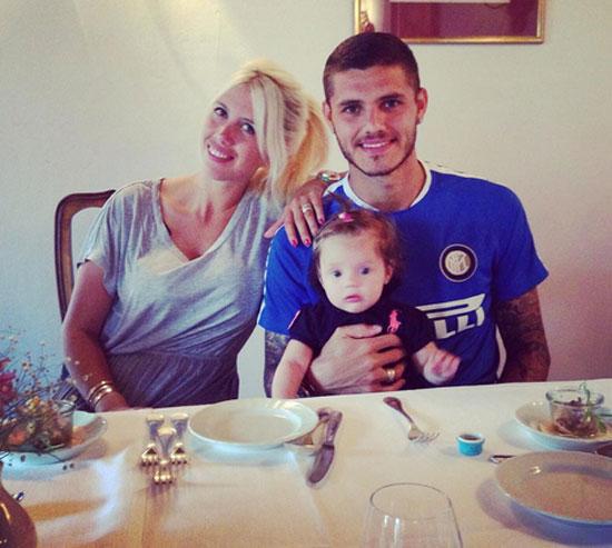 Mới sinh hơn 6 tháng, vợ Icardi lại mang bầu
