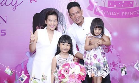 Vợ chồng Bình Minh làm sinh nhật cho con gái